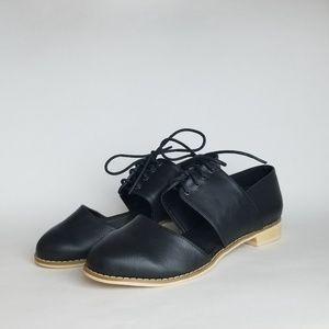 NWOT - Charlotte Russe   Black Faux Leather Flats